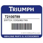 TRIUMPH Cooling Fan Switch OEM#  2101270t0301 With O Ring
